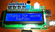 Raspberry Pi with LCD